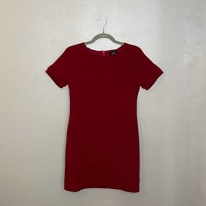 VICI Burgundy Short Sleeve Sheath Mini Dress S